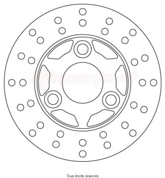 Product image: Sifam - DIS1216 - Brake Disc Mbk Ø155x66x41  Mounting holes 3xØ10,5 Disk Thickness 3,5
