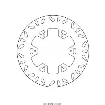 Product image: Sifam - DIS1220 - Brake Disc Yamaha Ø267x134x118  Mounting holes 6xØ6,5 Disk Thickness 4