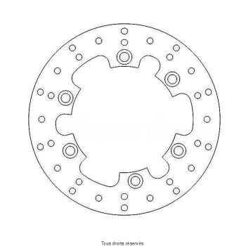 Product image: Sifam - DIS1221 - Brake Disc Yamaha Ø320x216x198  Mounting holes 6xØ8,5 Disk Thickness 6