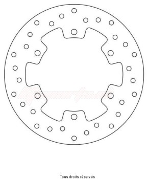 Product image: Sifam - DIS1227W - Brake Disc Yamaha  Ø220x133x115  Mounting holes 6xØ8,5 Disk Thickness 5