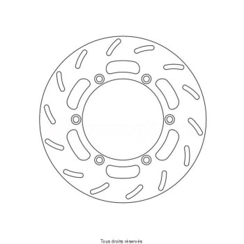 Product image: Sifam - DIS1265 - Brake Disc Honda Ø240x134x114   Mounting holes 6xØ10,5 Disk Thickness 4