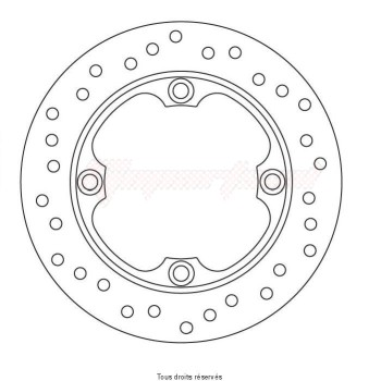 Product image: Sifam - DIS1267W - Brake Disc Honda Ø220x125x105  Mounting holes 4xØ10,5 Disk Thickness 4