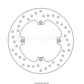Product image: Sifam - DIS1317W - Brake Disc Honda  Ø240x135x116,5   Mounting holes 4Ø10,5 Disk Thickness 5