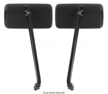 Product image: Sifam - MIR9123 - Mirror pair Universal M10 Right: 110 x 55 mm Plastic Mirror-Support Steel