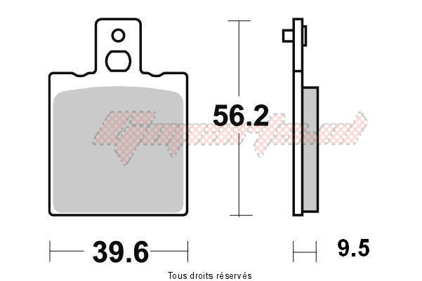 Product image: Kyoto - S1001 - Brake Pad Kyoto Semi-Metal   S1001  1
