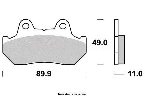 Product image: Kyoto - S1003 - Brake Pad Kyoto Semi-Metal   S1003  1