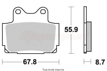 Product image: Sifam - S1024N - Brake Pad Sifam Sinter Metal   S1024N