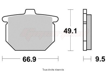 Product image: Sifam - S1027AN - Brake Pad Sifam Sinter Metal   S1027AN