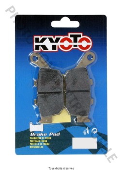 Product image: Kyoto - S1064 - Brake Pad Kyoto Semi-Metal MBK CW 50 N BOOSTER 2004-2014