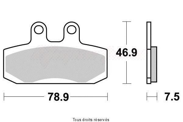 Product image: Kyoto - S1074 - Brake Pad Kyoto Semi-Metal   S1074  1