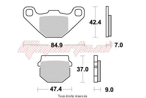 Product image: Kyoto - S1087 - Brake Pad Kyoto Semi-Metal DERBI SENDA 50 R DRD 2011-2016    1