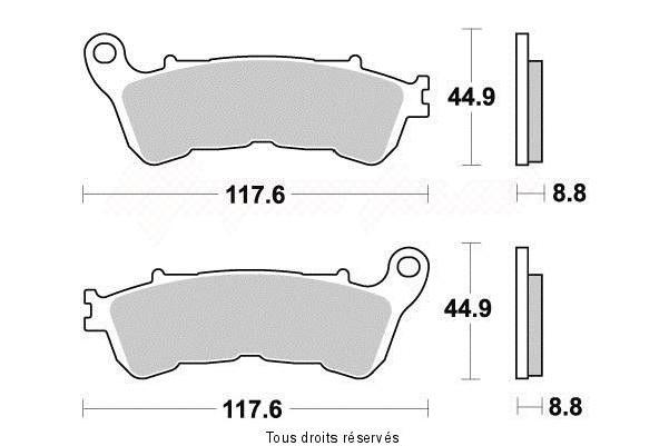 Product image: Sifam - S1172N - Brake Pad Sifam Sinter Metal   S1172N  1