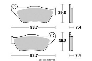 Product image: Kyoto - S1190 - Brake Pad Kyoto Semi-Metal YAMAHA YPR 125 X-MAX 2006-2009