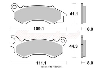 Product image: Sifam - S1809N - Brake Pad Sifam Sinter Metal   S1809N