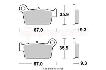 Product image: Kyoto - S2017 - Brake Pad Kyoto Semi-Metal KAWASAKI KX-F 450 2010-2015