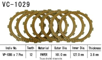 Product image: Kyoto - VC1029 - Clutch Plate kit complete Cbr1100 Xx 99-02
