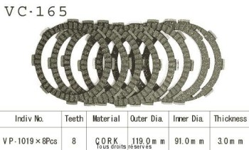 Product image: Kyoto - VC165 - Clutch Plate kit complete Vf400 F 83-86