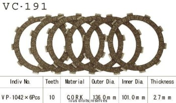 Product image: Kyoto - VC191 - Clutch Plate kit complete Trx300/350/400/450