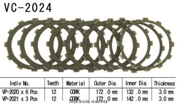 Product image: Kyoto - VC2024 - Clutch Plate kit complete Xv 1700 Star Warrior