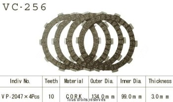 Product image: Kyoto - VC256 - Clutch Plate kit complete Tw 125 98-03