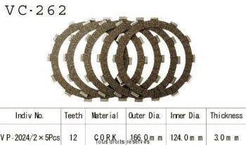 Product image: Kyoto - VC262 - Clutch Plate kit complete Xs 400 S 82-87