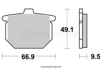 Product image: Vesrah - VD112JL - Brake Pad Vesrah Sinter Metal      VD112JL