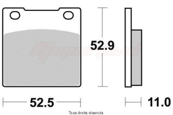 Product image: Vesrah - VD117JL - Brake Pad Vesrah Sinter Metal      VD117JL
