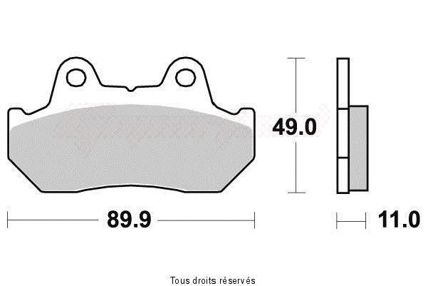 Product image: Vesrah - VD123JL - Brake Pad Vesrah Sinter Metal      VD123JL  0