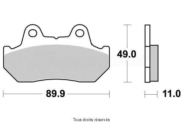 Product image: Vesrah - VD123JL - Brake Pad Vesrah Sinter Metal      VD123JL  1