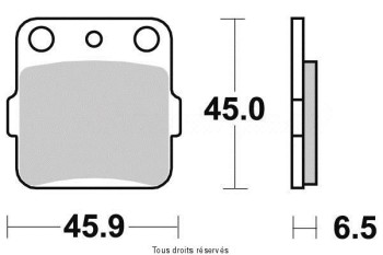 Product image: Vesrah - VD127JL - Brake Pad Vesrah Sinter Metal      VD127JL