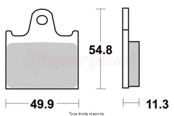 Product image: Vesrah - VD140 - Brake Pad Vesrah Organic      VD140