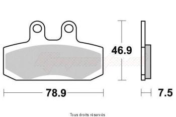 Product image: Sifam - VD152JL - Brake pad Vesrah sintered