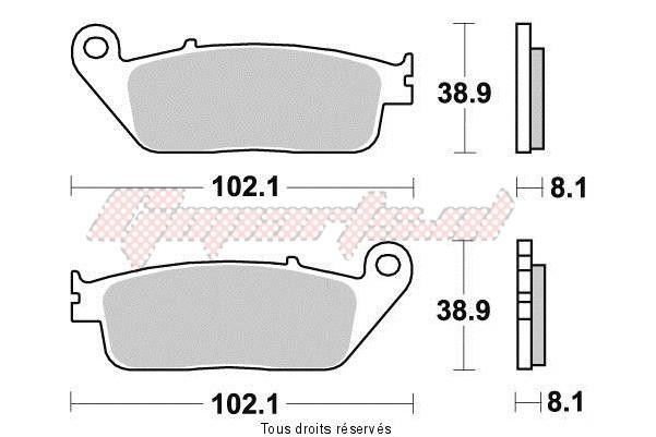 Product image: Vesrah - VD156JL - Brake Pad Vesrah Sinter Metal      VD156JL  0