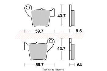 Product image: Vesrah - VD168JL - Brake Pad Vesrah Sinter Metal      VD168JL