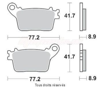 Product image: Vesrah - VD174JL - Brake Pad Vesrah Sinter Metal      VD174JL