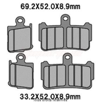 Product image: Vesrah - VD179JL - Brake Pad Vesrah Sinter Metal vfr 1200