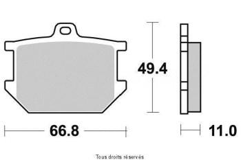 Product image: Vesrah - VD205JL - Brake Pad Vesrah Sinter Metal      VD205JL