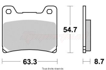 Product image: Vesrah - VD236JL - Brake Pad Vesrah Sinter Metal      VD236JL