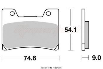 Product image: Vesrah - VD251NRQ - Brake Pad Vesrah Carbon      VD251NRQ