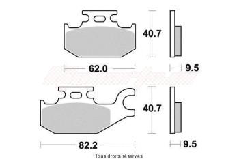 Product image: Vesrah - VD266JL - Brake Pad Vesrah Sinter Metal      VD266JL