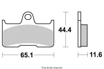 Product image: Vesrah - VD270JL - Brake Pad Vesrah Sinter Metal      VD270JL