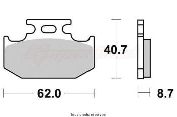 Product image: Vesrah - VD432JL - Brake Pad Vesrah Sinter Metal      VD432JL