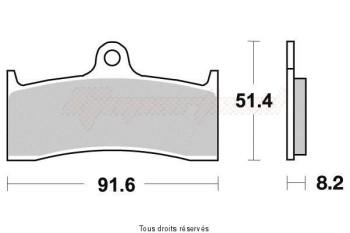 Product image: Vesrah - VD437JL - Brake Pad Vesrah Sinter Metal      VD437JL