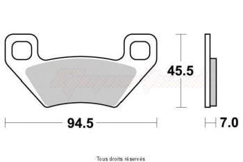 Product image: Vesrah - VD9023JL - Brake Pad Vesrah Sinter Metal      VD9023JL