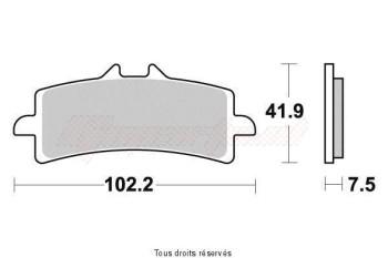 Product image: Vesrah - VD9031JL - Brake Pad Vesrah Sinter Metal BREMBO Radial