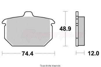Product image: Vesrah - VD918 - Brake Pad Vesrah Organic      VD918