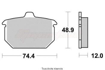 Product image: Vesrah - VD918NRQ - Brake Pad Vesrah Carbon      VD918NRQ