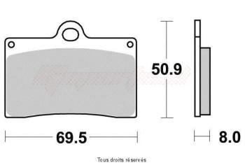 Product image: Vesrah - VD945JL - Brake Pad Vesrah Sinter Metal      VD945JL
