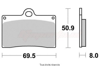 Product image: Vesrah - VD945RJL - Brake Pad Vesrah Racing      VD945RJL