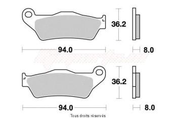 Product image: Vesrah - VD947JL - Brake Pad Vesrah Sinter Metal      VD947JL